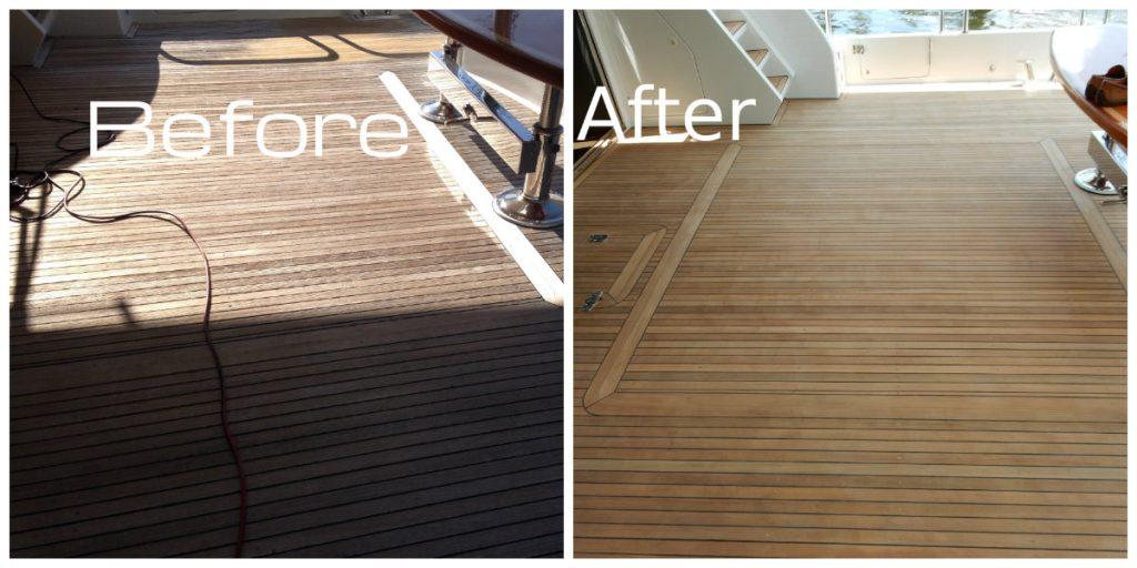 teak sanding repairs, marine carpentry
