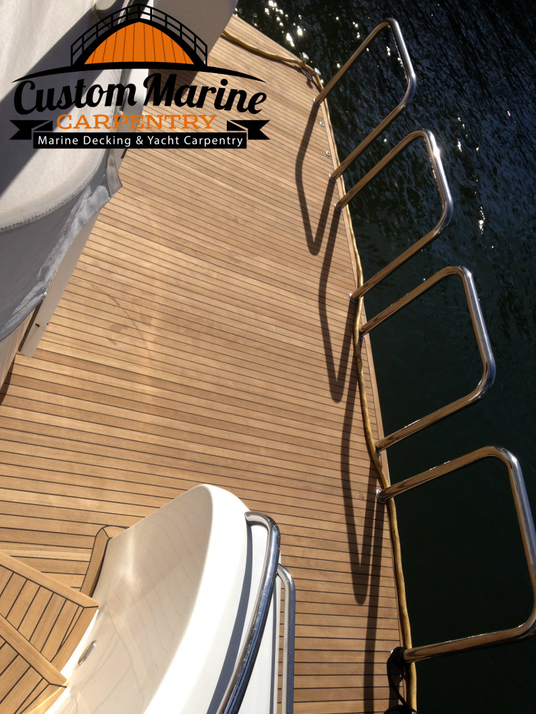 Look this beautiful Teak Decking Platform Built for Custom Marine Carpentry