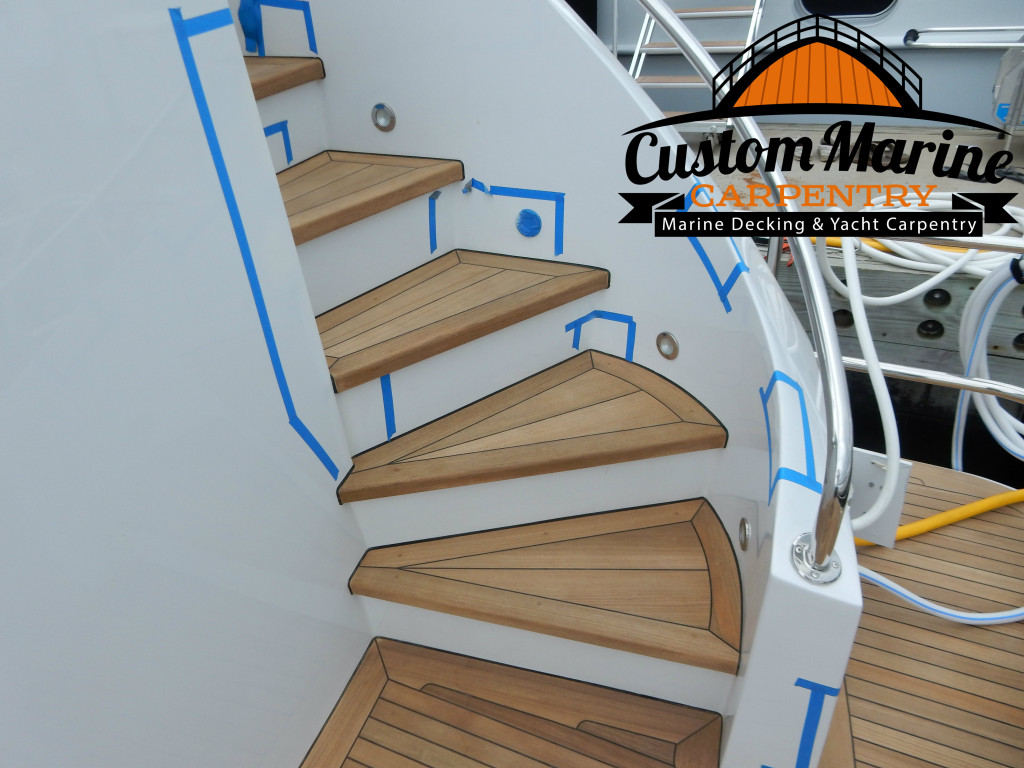 Teak Sanding Repair in fort lauderdale by Custom Marine Carpentry