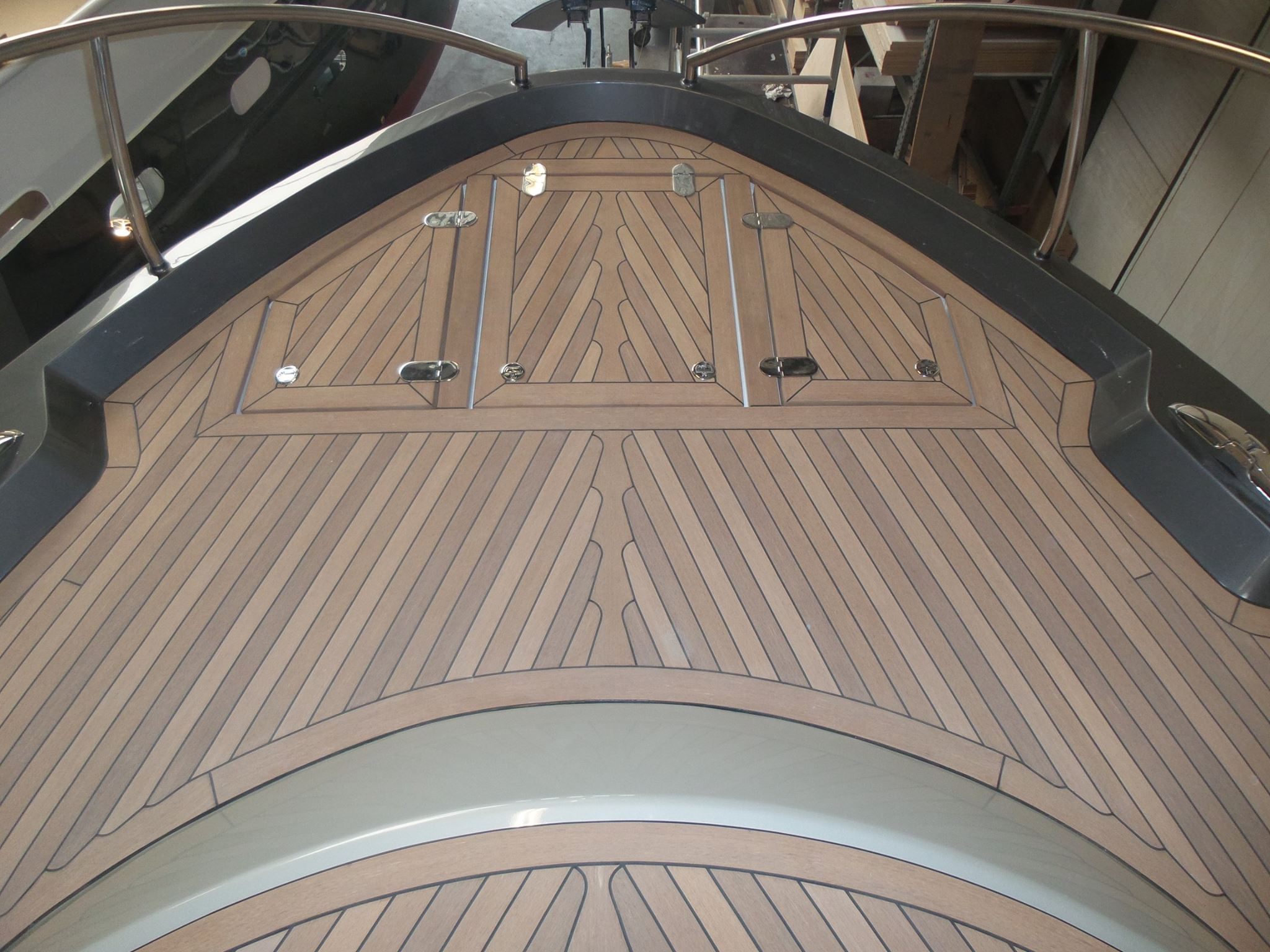 Synthetic teak decking panel for Synthetic decking