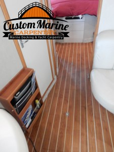 Amtico Interior Boat Flooring by Custom Marine Carpentry 1