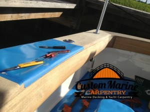 Boat Carpentry, teak Cover Boards in fort lauderdale