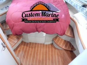 Interior Boat Flooring Proyect by Custom Marine Carpentry
