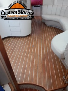 Interior Boat Flooring built for CMC in Light point