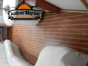 Interior marine Flooring built for Custom Marine Carpentryy