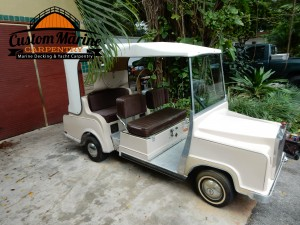 Permateek synthetic decking in Golf car miami