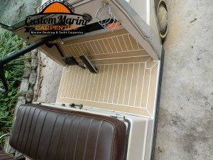 Permateek synthetic decking in Golf car( Custom Marine Carpentry) 021