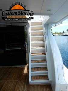 Teak Decking -Teak Sanding Repairs , Custom Marine carpentry