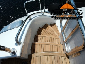 Teak Decking -Teak Sanding Repairs, Custom marine Carpentry