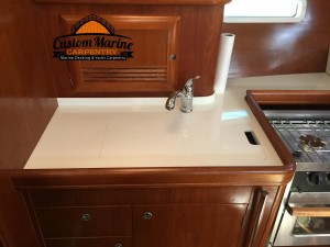 corian counter tops made by Custom Marine Carpentry in Ft Lauderdale fl1