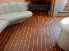 Fort Lauderdale Teak & Holly Interior Boat Flooring - Custom Marine Carpentry