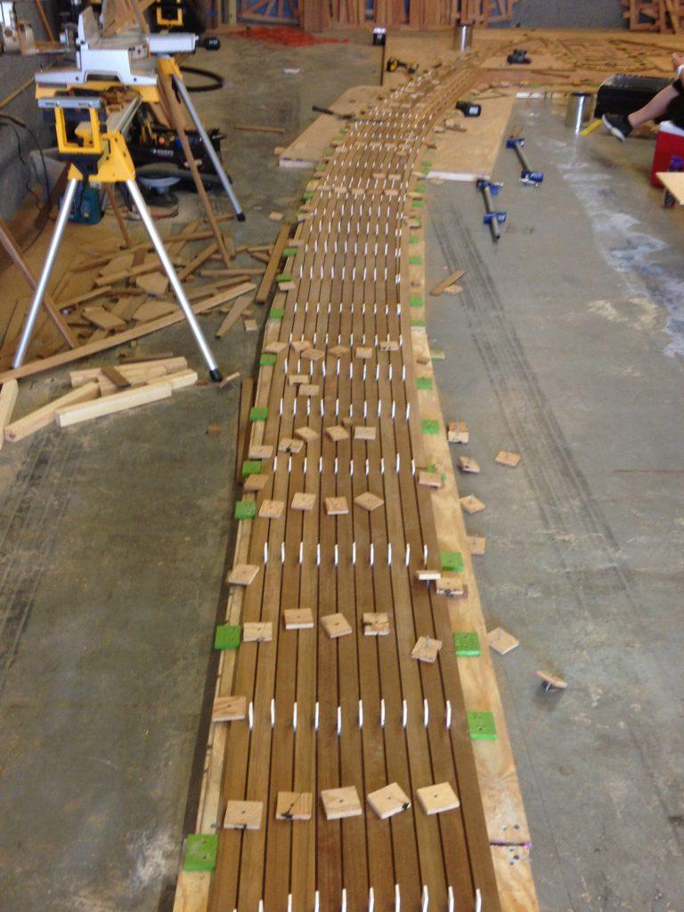 teak decking installation Fort Lauderdale - hand selecting teak decking Florida