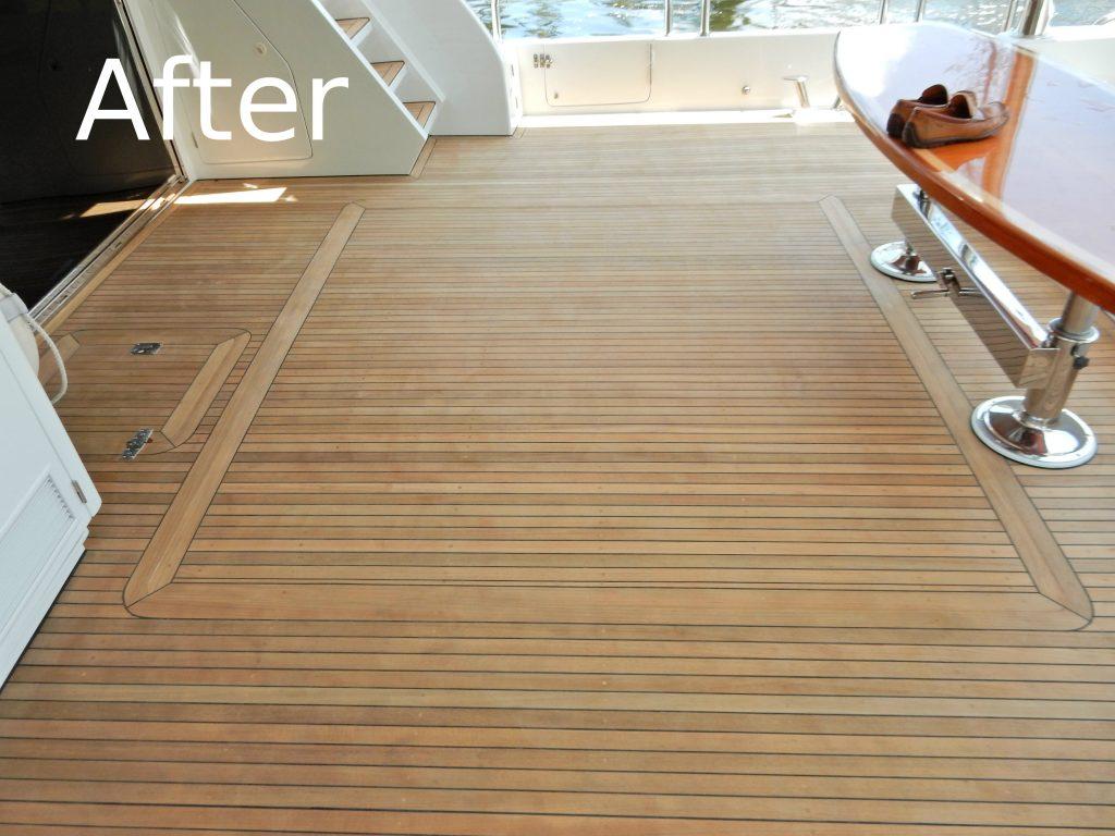 Teak Decking, Teak Sanding Repairs, boat flooring