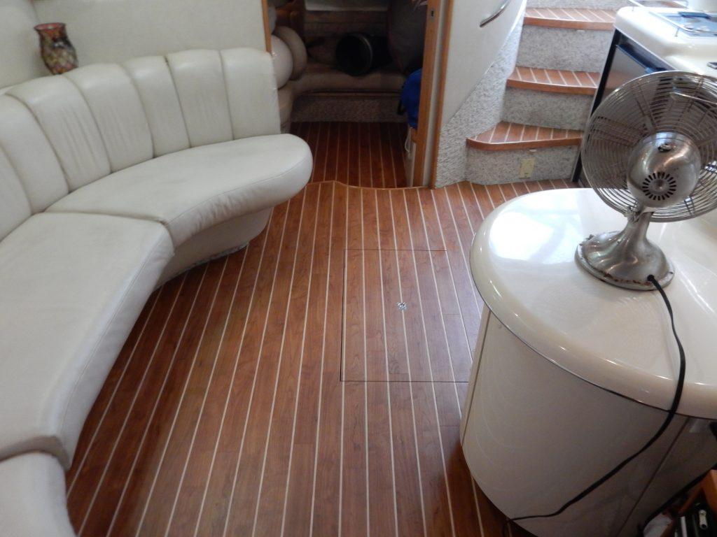 interior boat flooring by custom marine carpentry 101 - Amtico Marine - Wood Fort Lauderdale Florida