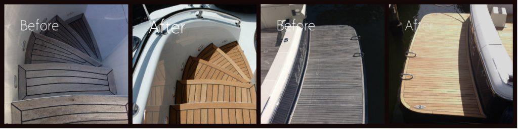 Photo Gallery Teak decking Fort Lauderdale - Custom Marine Carpentry Florida