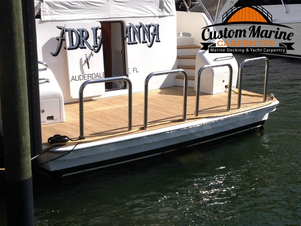 Look this Teak Decking Built by Custom Marine Carpentry