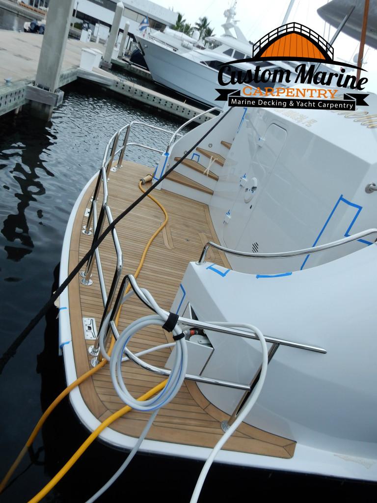 Teak Decking by Custom Marine Carpentry, Teak Sanding Repair