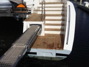 62 Catamaran teak decking installed 6