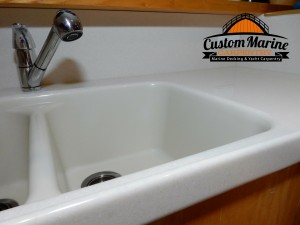Boat Counter Top For a Kitchen by Custom Marine Carpentry