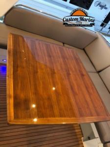 Custom Yacht Table by Custom Marine Carpentry