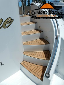 Marine Carpentry,Teak Decking -Teak Sanding Repairs (2)