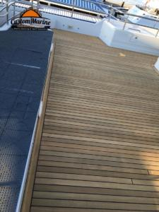 check out this teak deck made by Custom Marine Carpentry